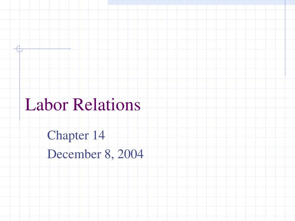 labor relations l.
