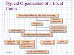 typical organization of a local union