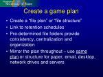 create a game plan