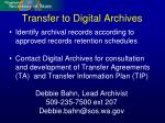 transfer to digital archives