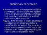 emergency procedure14