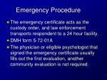 emergency procedure15