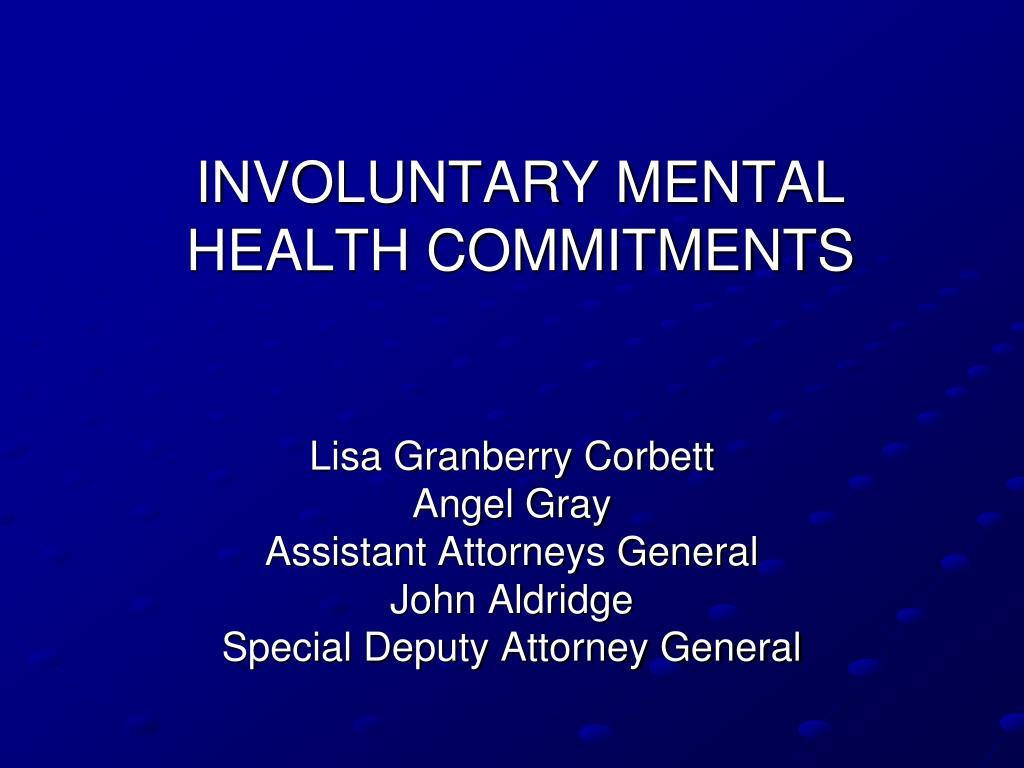involuntary mental health commitments l.