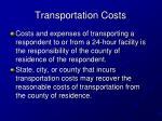 transportation costs