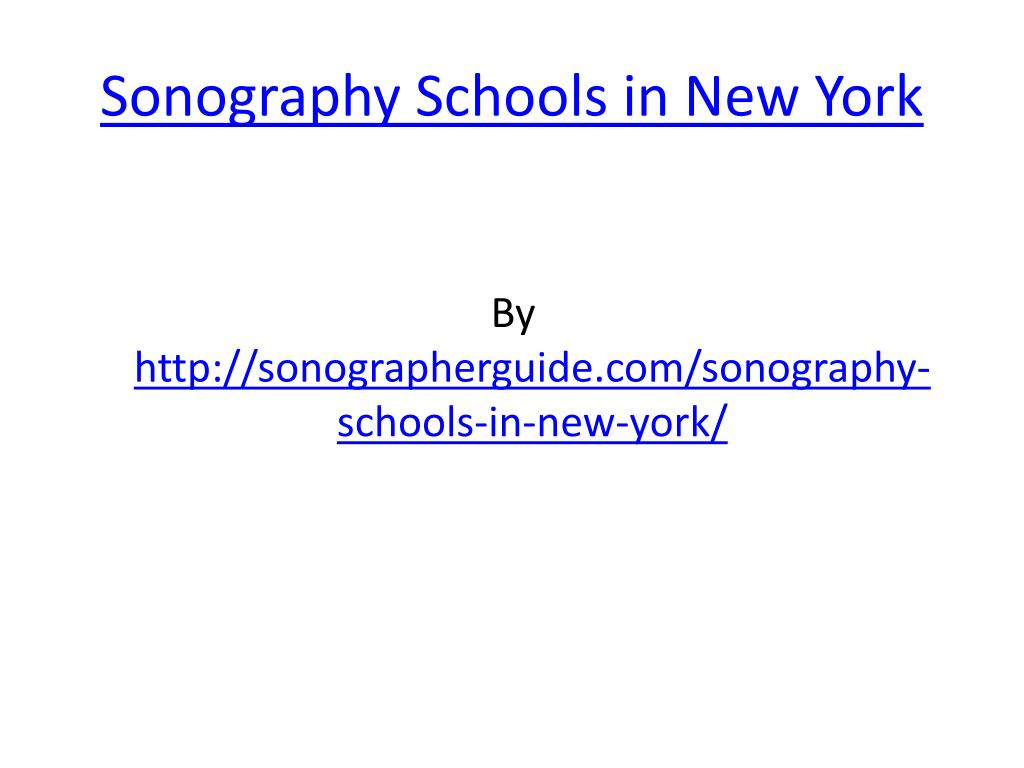 sonography schools in new york l.