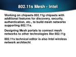 802 11s mesh intel