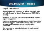 802 11s mesh tropos