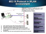 802 1x protocol in wlan environment