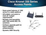 cisco aironet 350 series access points