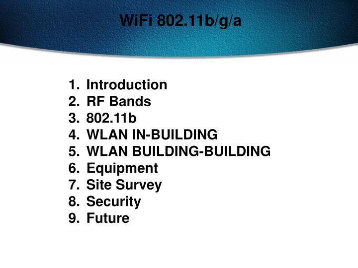 WiFi 802.11b/g/a