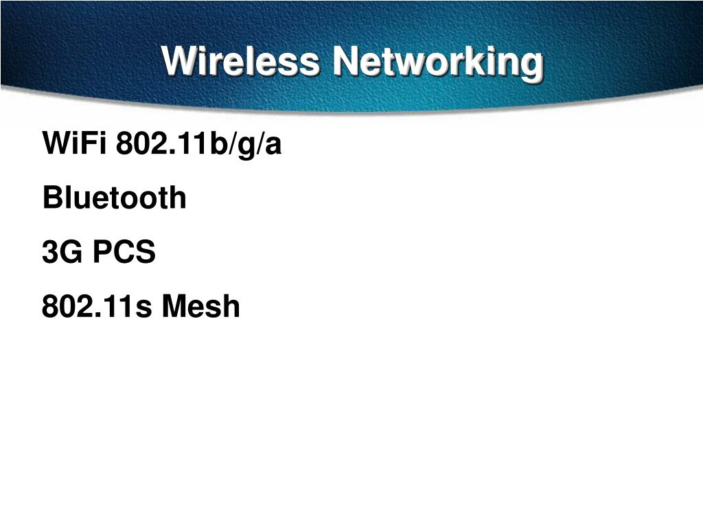 wireless networking l.