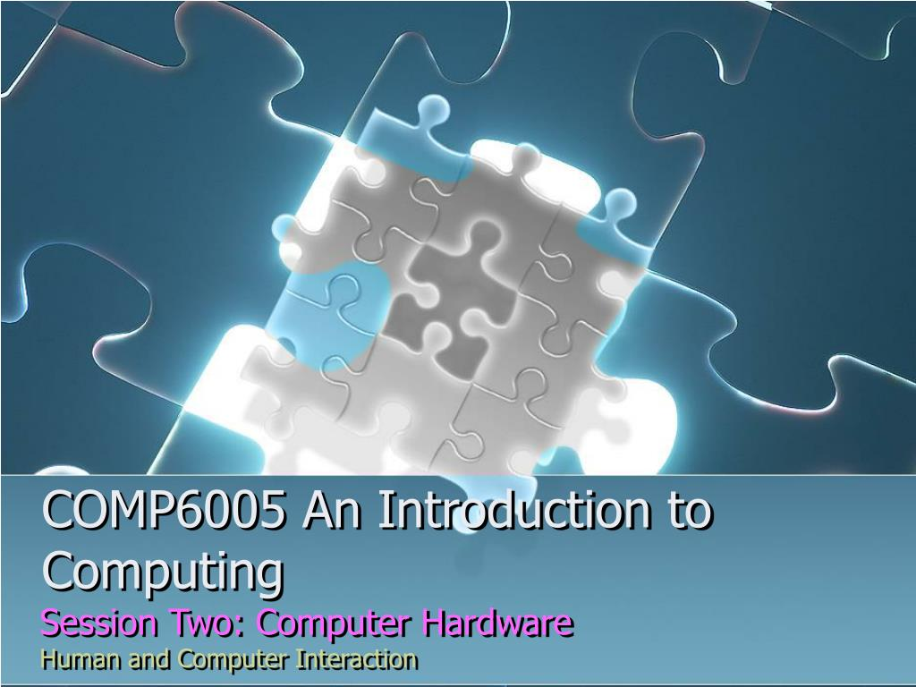comp6005 an introduction to computing l.