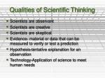 qualities of scientific thinking