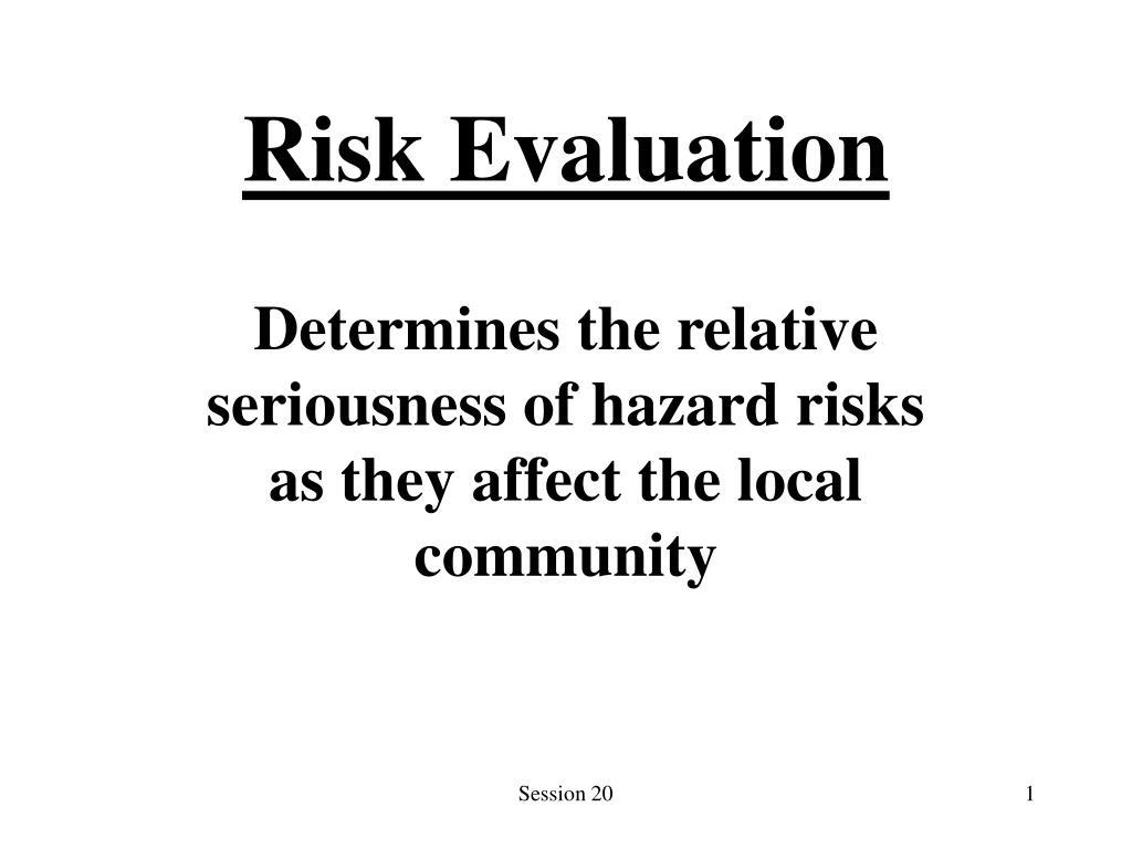 risk evaluation l.