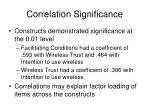 correlation significance
