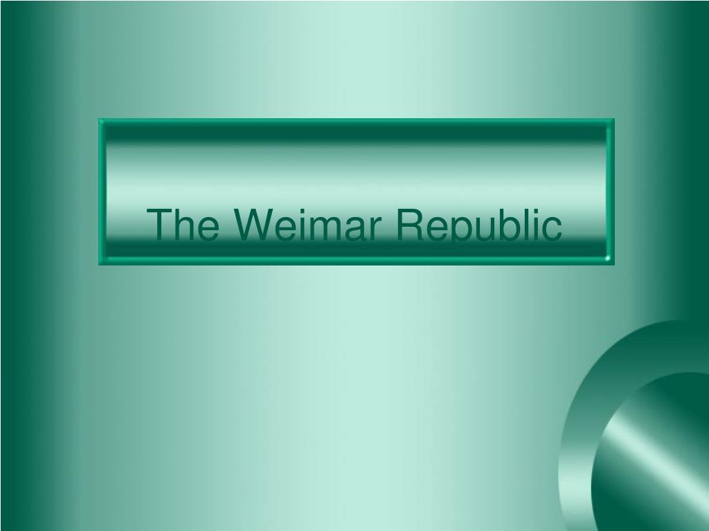the weimar republic l.