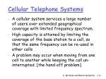 cellular telephone systems