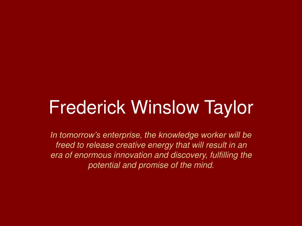 frederick winslow taylor l.