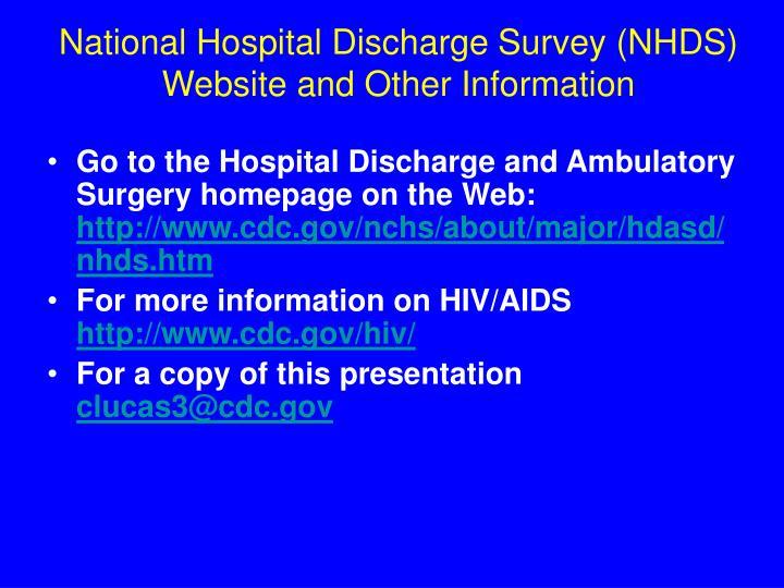 National Hospital Discharge Survey (NHDS)