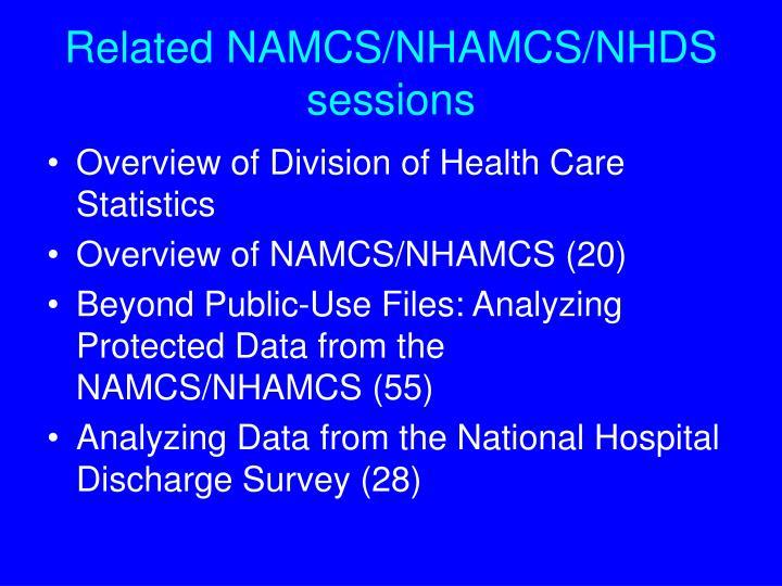 Related namcs nhamcs nhds sessions