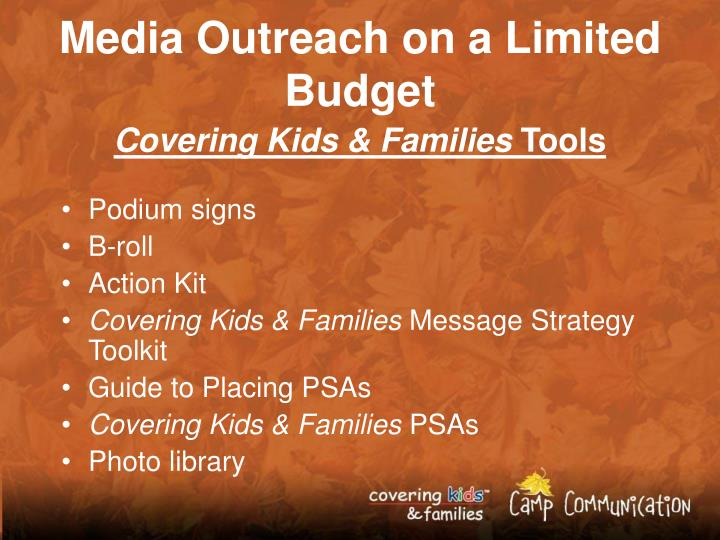 Media Outreach on a Limited Budget