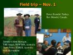 field trip nov 1