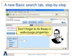 a new basic search tab step by step18