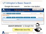 ut arlington s basic search