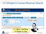 ut arlington s course reserves search