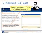 ut arlington s help pages