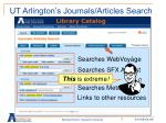 ut arlington s journals articles search1