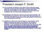 president joseph f smith
