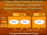 using a skip counting game to teach technology standards through an interest framework