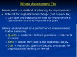 where assessment fits