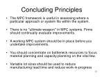 concluding principles