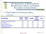 the importance of hard evidence results from a survey on workout procedures in italian banks6