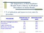 the importance of hard evidence results from a survey on workout procedures in italian banks7