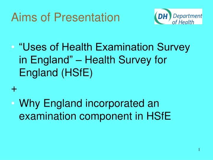 aims of presentation n.