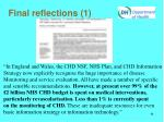 final reflections 1