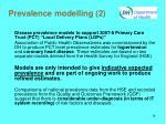 prevalence modelling 2