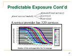 predictable exposure cont d