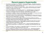 recent papers supermedia