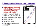 cell crypt architecture two questions1