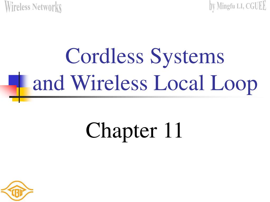 cordless systems and wireless local loop l.