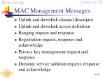 mac management messages