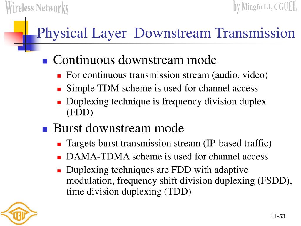 Physical Layer–Downstream Transmission
