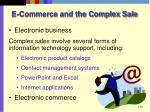e commerce and the complex sale