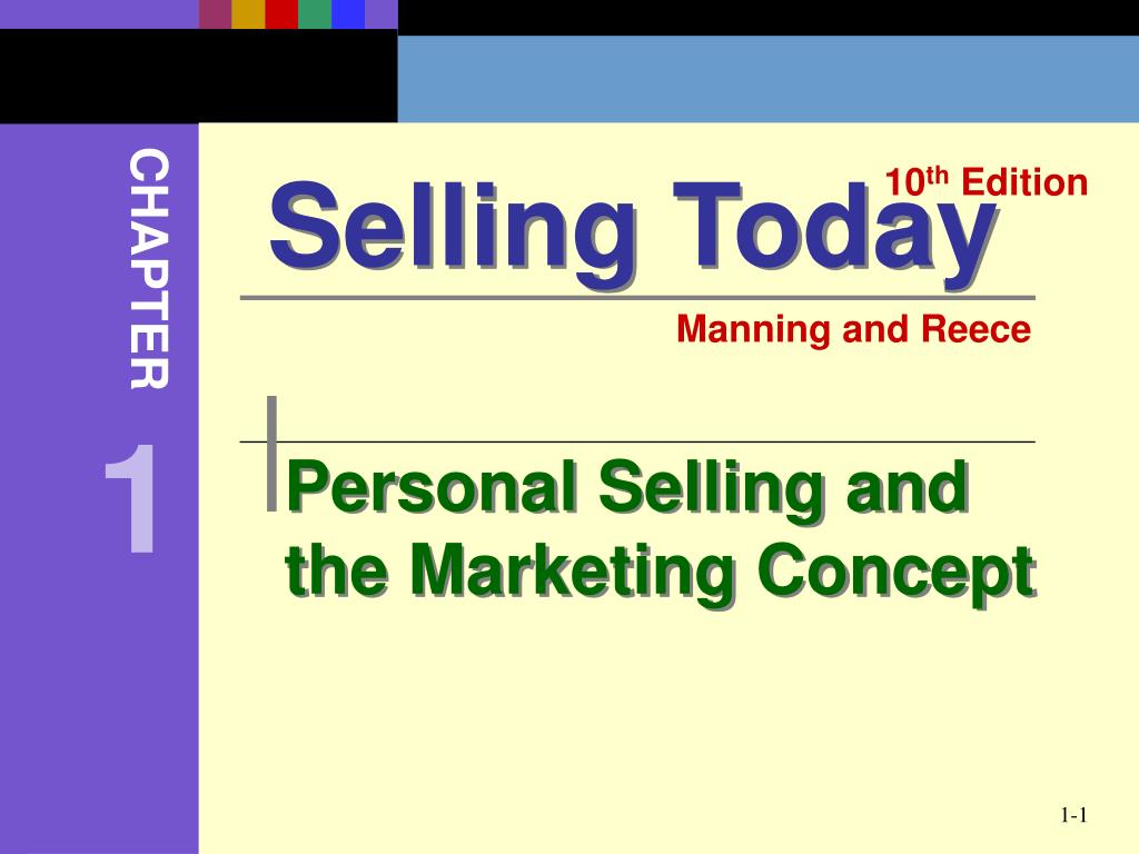 personal selling and the marketing concept l.