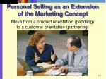 personal selling as an extension of the marketing concept
