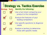 strategy vs tactics exercise
